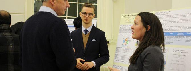 Zachary German and Frances Robinson, MPA graduate students presenting Project 2Gen CIPA Capstone project.