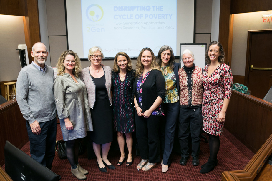Karl Pillemer, Lori Severens, Lindsay Chase-Lansdale, Rachel Dunifon, Laura Tach, Lisa Gennetian, Jennifer Tiffany, and Elizabeth Day at the inaugural event
