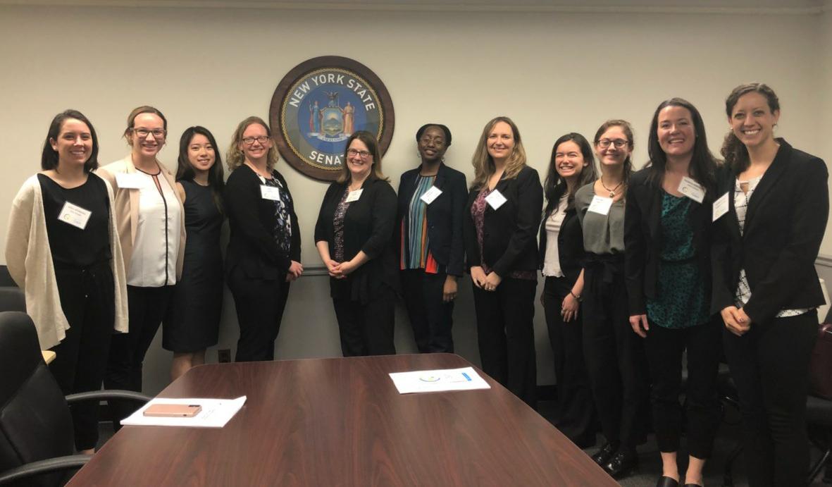 Cornell researchers with New York State legislators in Albany