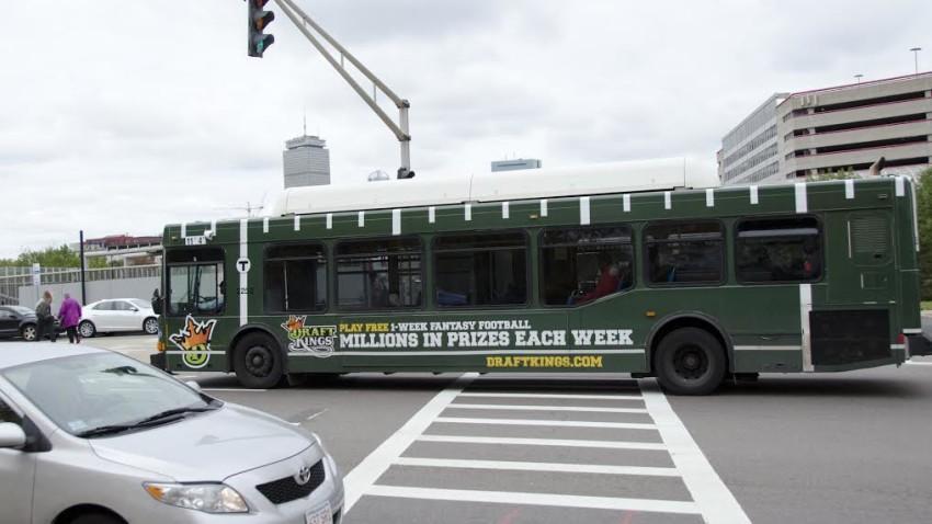 Out of Home DraftKings MBTA Bus Wrap 2015 Football Season
