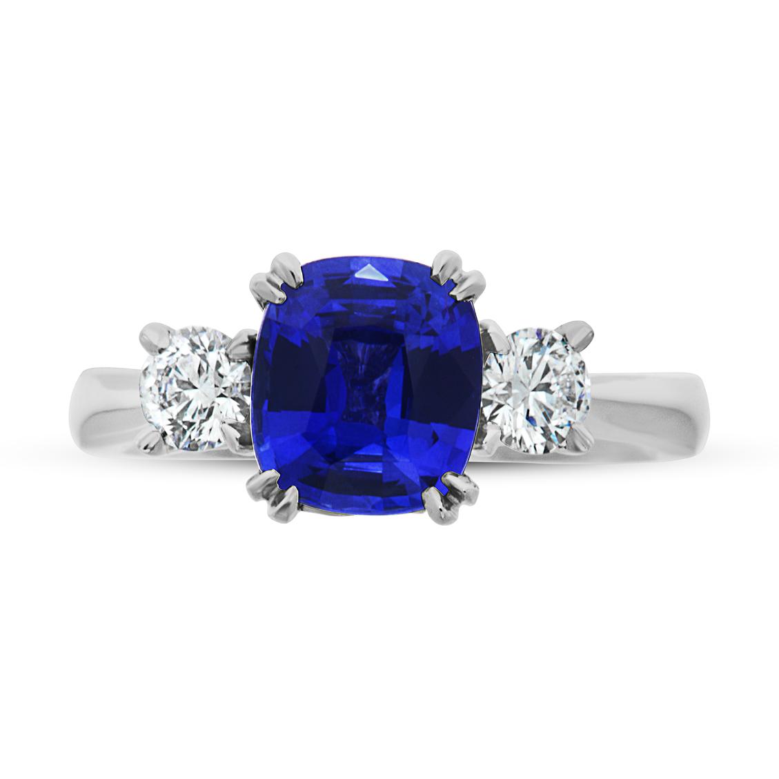 Ceylon Sapphire - Diamond - Platinum