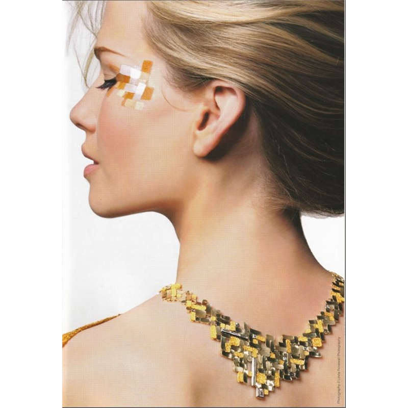 """Klimpt"" Neckpiece - Acid etched Yellow, Green & White gold - Diamonds"