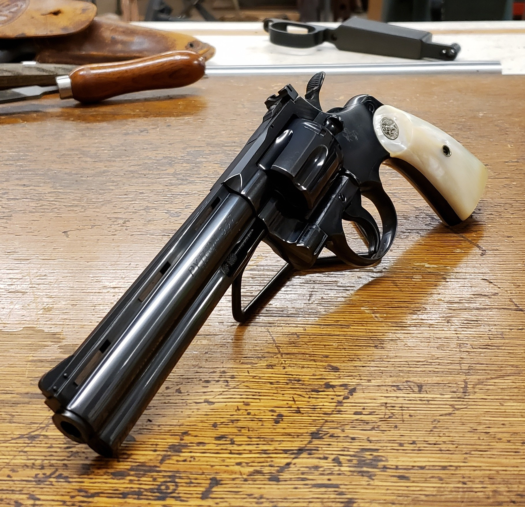 RESTORE - We specialize in returning antique and vintage firearms to their optimal condition. Whether it be rust, fire damage, or a broken stock, we can restore your old firearm. Don't let an old family heirloom continue collecting dust. Bring your firearm in and we will give you an honest no-pressure assessment of the work and cost involved in the project.