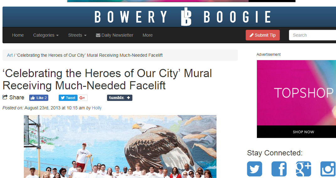 Bowery Boogie - Check out the article here!