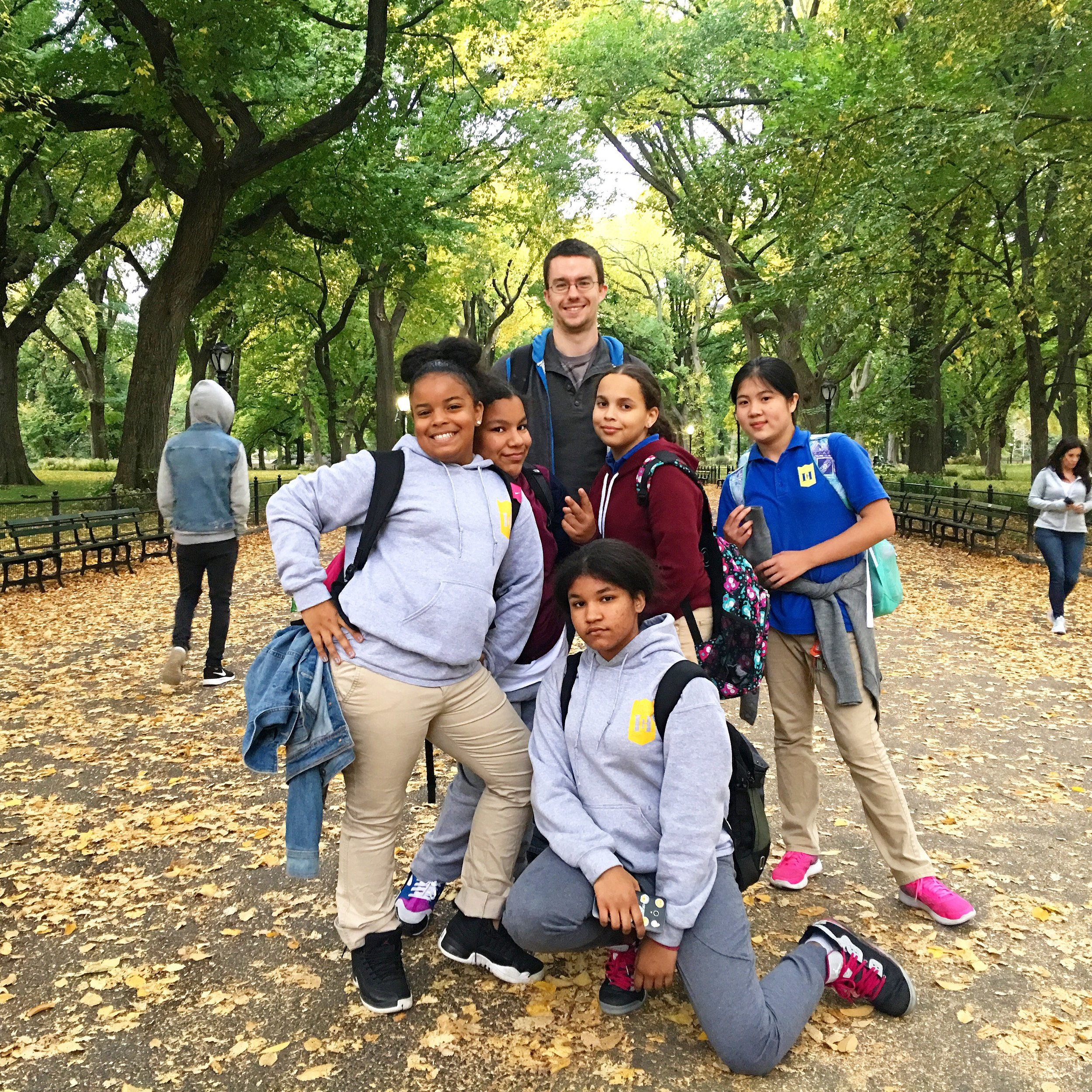 Visiting Public Art in Central Park! - After some students from Hamilton Grange Middle School told CITYarts they had never been to Central Park, we planned a tour of public artworks and memorials in this historical New York City park! Students enjoyed donated treats from Margot Patisserie and experienced a classic adventure in Central Park October, 2017.
