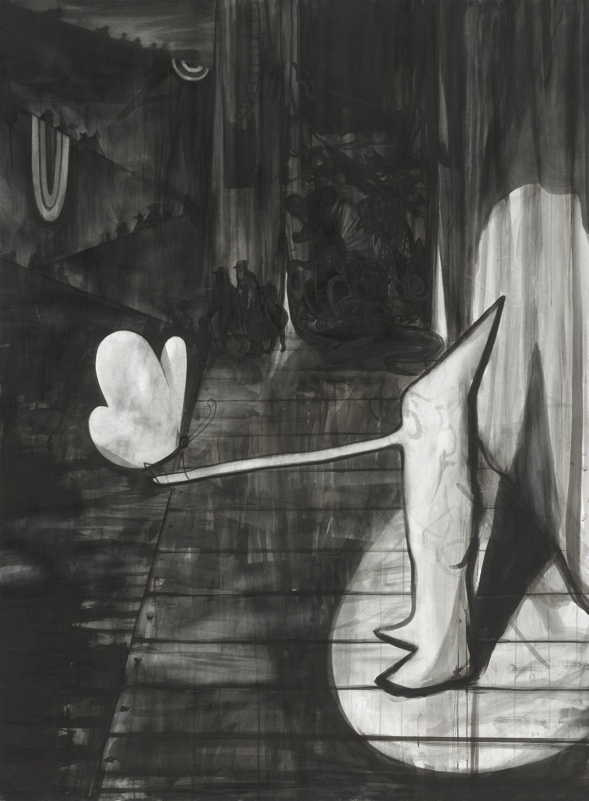 Die große und die kleine Lüge, 2018, Tusche auf Papier, 164 x 121 cm.jpg
