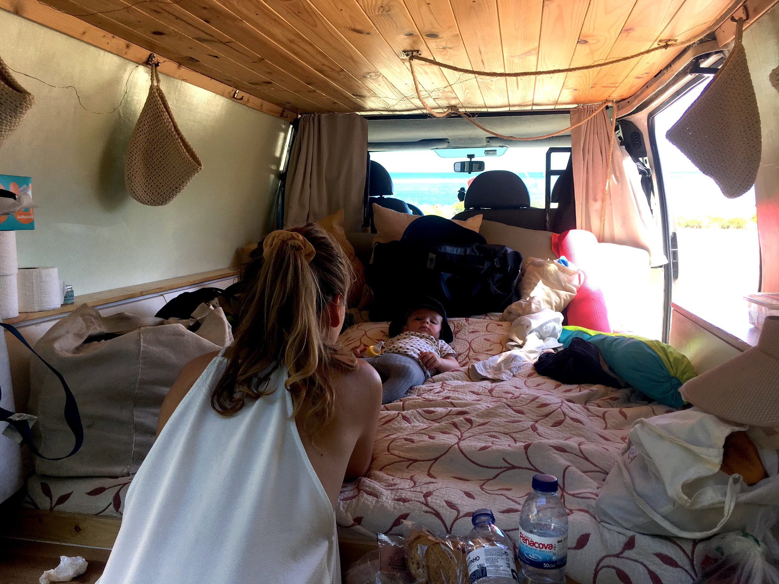 Chill-time in a cool van. Photo credit: Katrine Voight