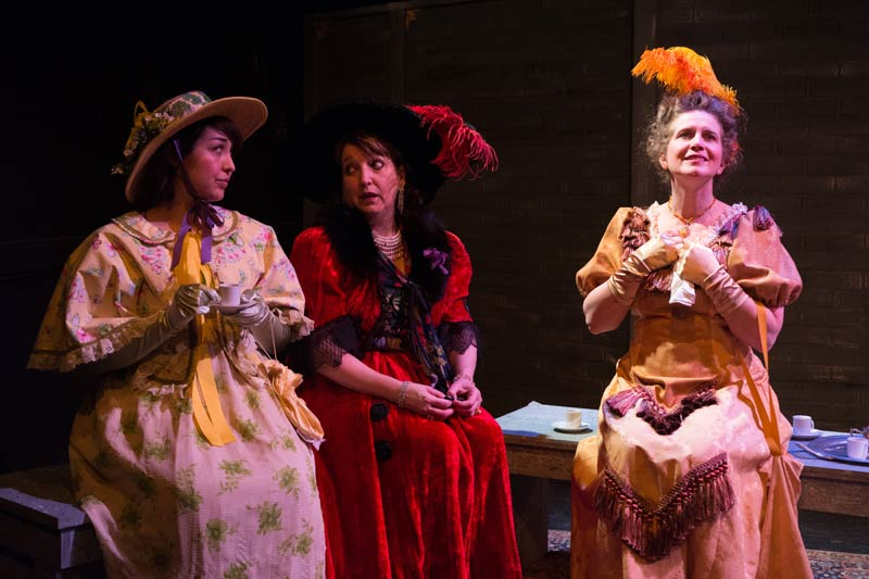 As Constance, with Jennifer Midori Vance as Gabrielle and Elaine Carlson as Countess Aurelia (Photo: Tom McGrath)