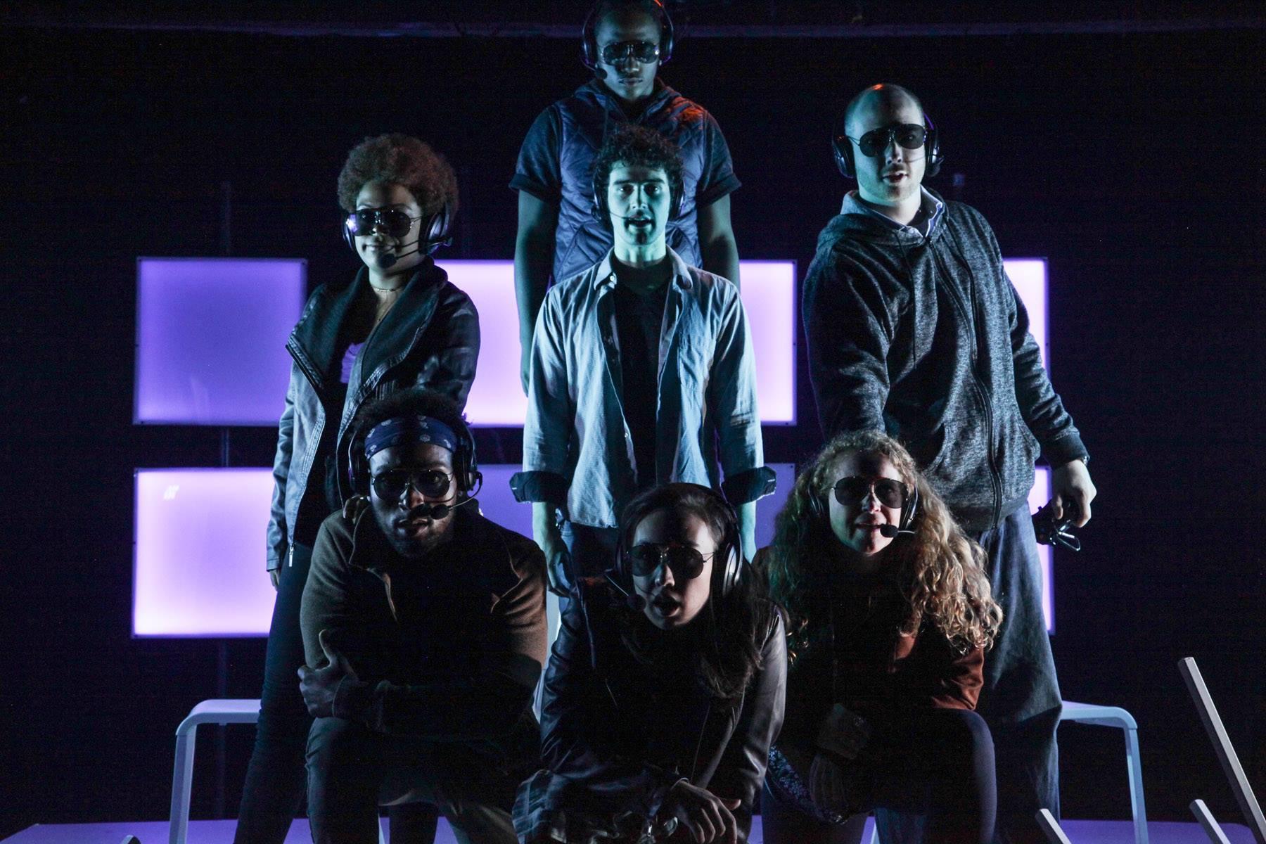 Swordbrothers: with Ayanna Bria Bakari, Londen Shannon, Victor Musoni, Daniel Chenard (Tom), Emily Marso, and Travis Barnhart. (Photo: Emily Schwartz)