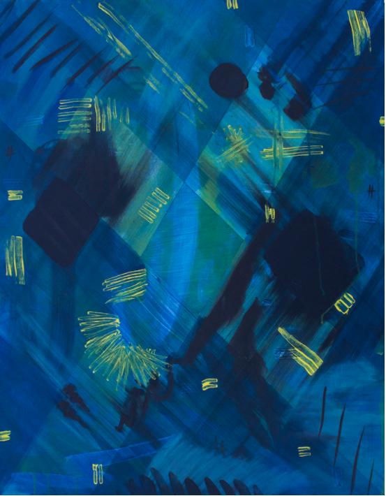Sara Havekotte, (Untitled), acrylic on canvas, 2017