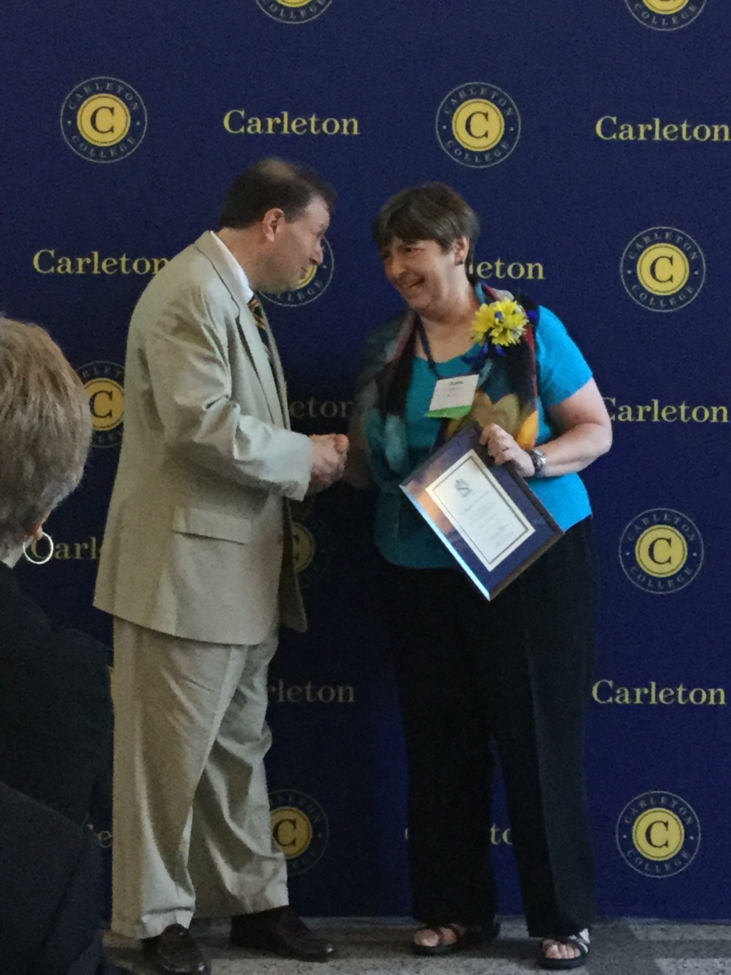 Diane Redleaf received the (Carleton College Distinguished Alumni Achievement Award Celebration in June 2016