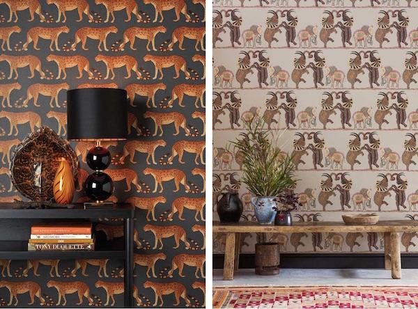 Leopard Walk and Safari Dance, Ardmore collection, Cole & Son –both £80 per roll