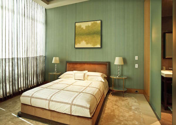 Embroidered Stripes in Seagreen, Fromental –price available on request