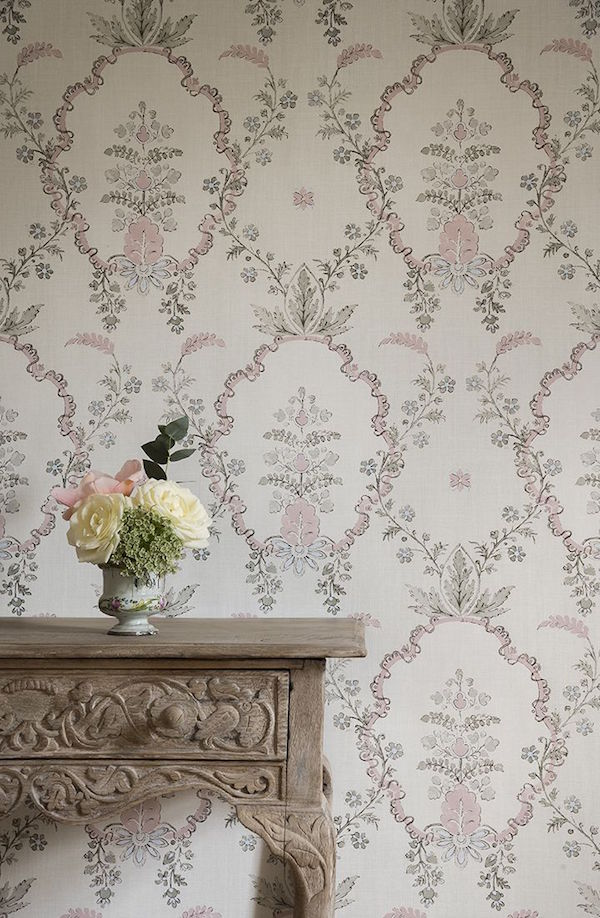 Vallance in Myrtle Pink, Spitalfields collection, Lewis & Wood –£58.80 per m