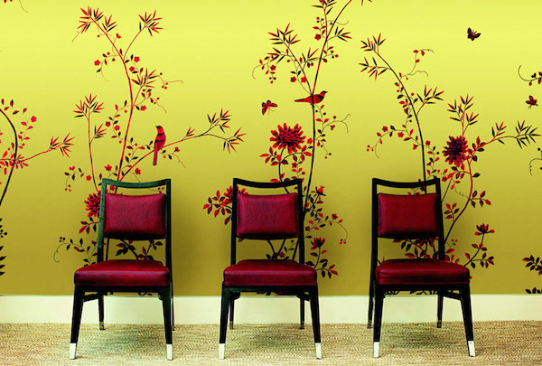 Paradiso Chinoiserie in Blood Olive, Fromental –price available on request