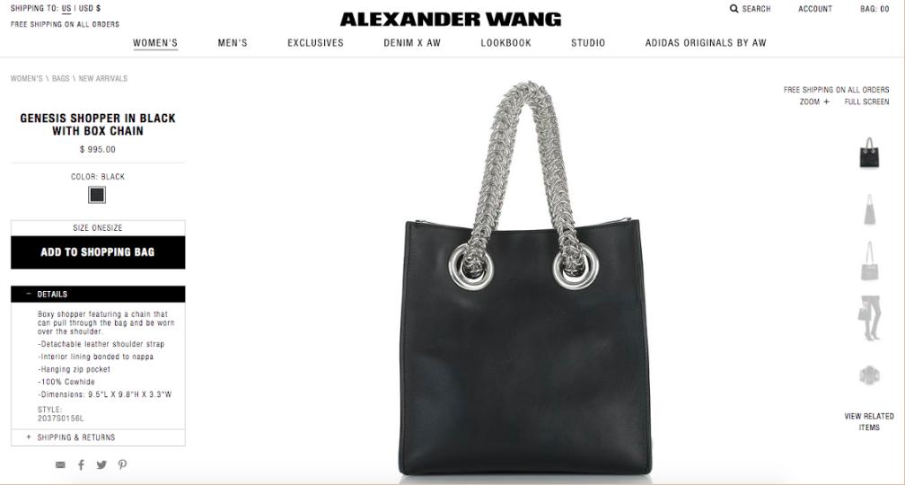 Alexander Wang E-Commerce | Soft Goods Stylist