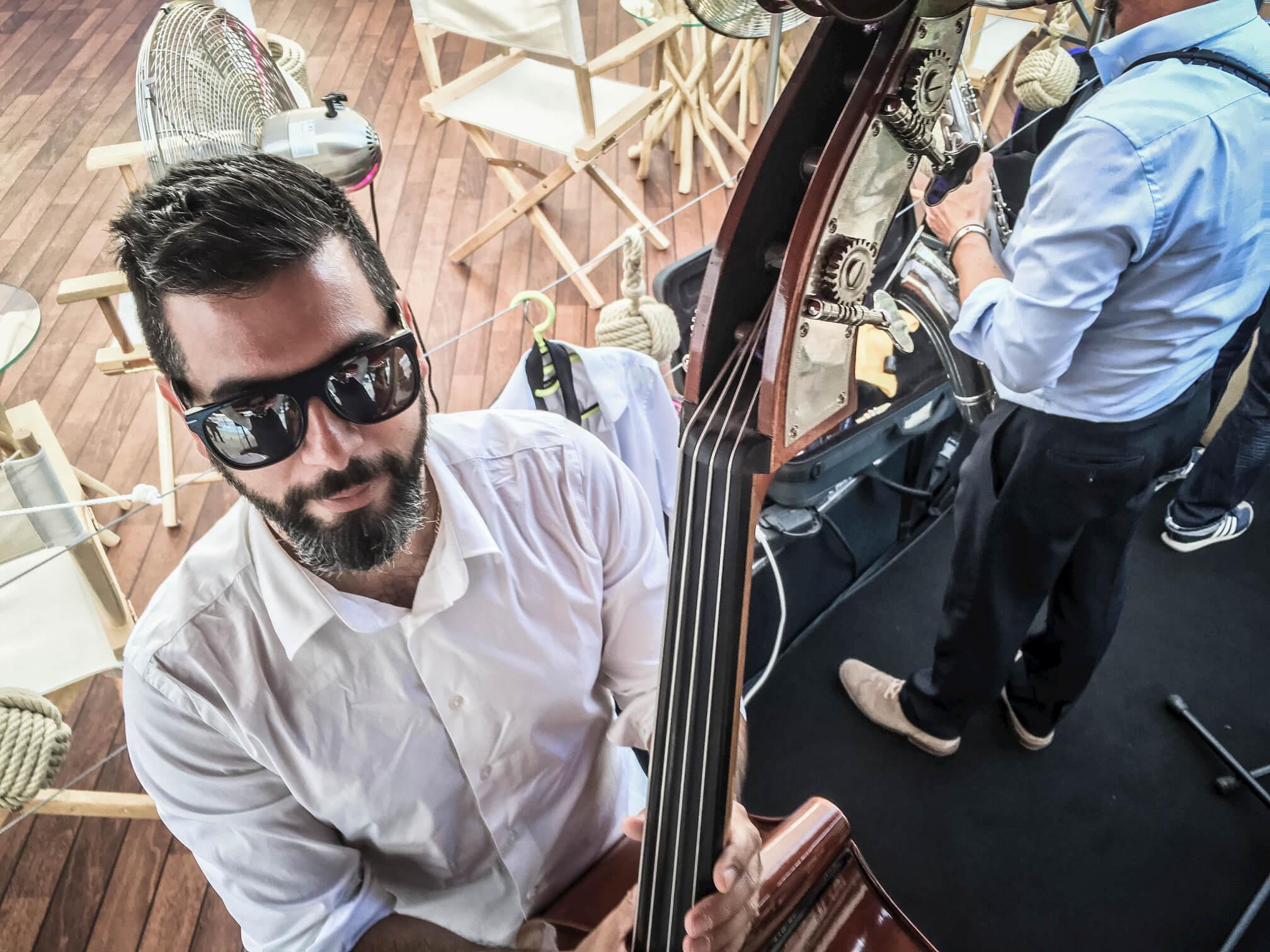 Double Bass action @ Hotel Martinez