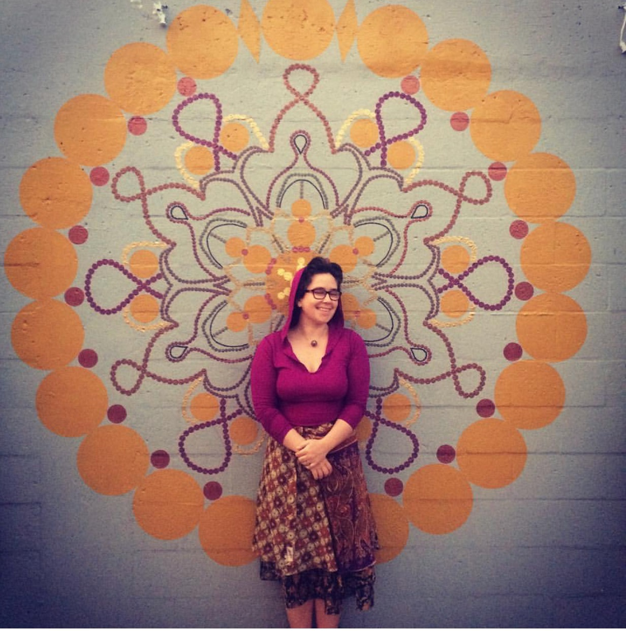 Mandala isSanskrit for circle - This mural keeps space on the wall of Bindu Yoga in West Palm Beach, greeting the students as they walk through the gates of their practice.