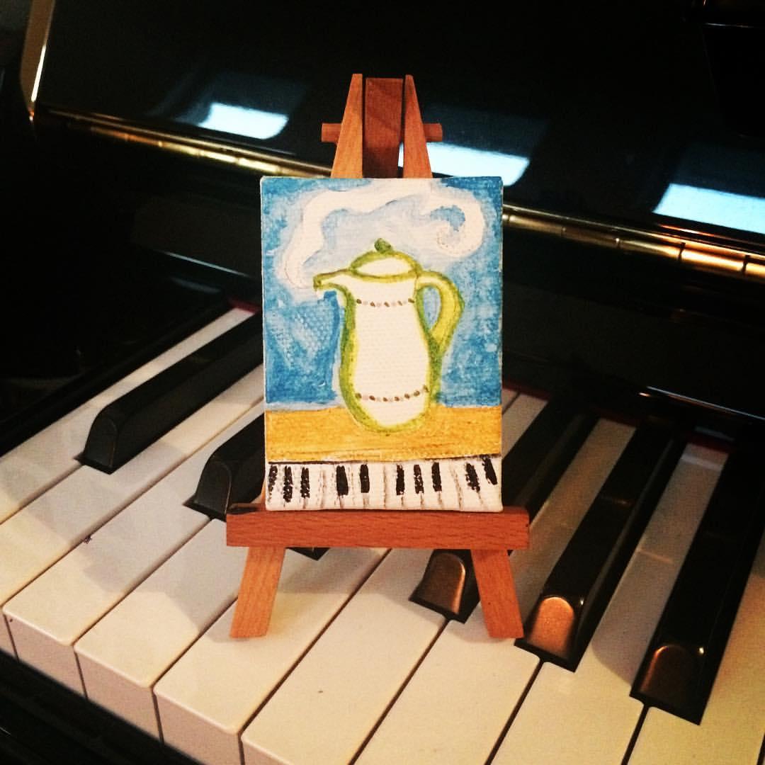 "3"" x 2"" Itty Teapot & Piano Keys - SOLD"