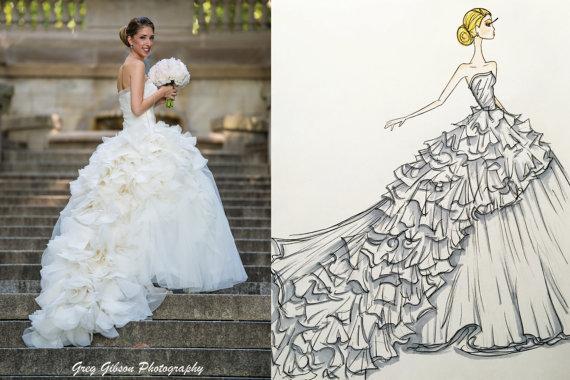 Custom Bridal Illustration