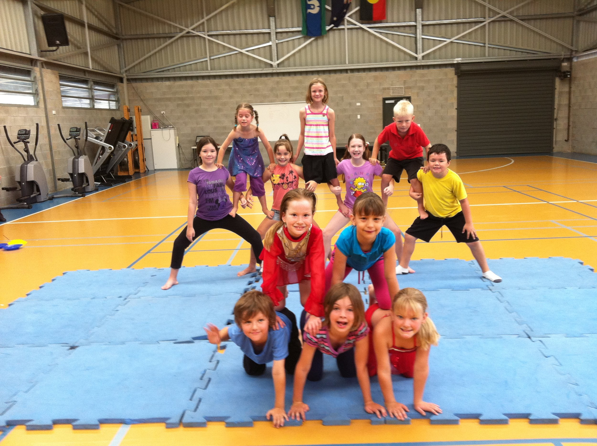 Students at Claire's Circus School