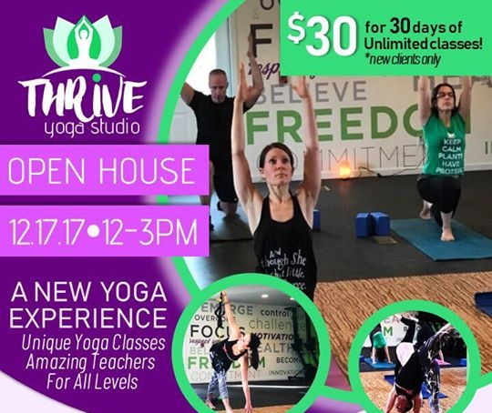 And we have a thriving yoga studio too! -