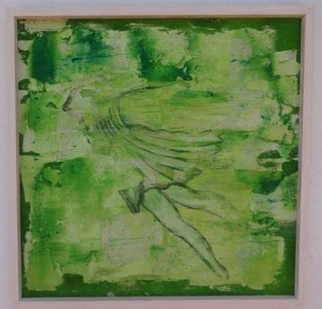 Wind Element / Elemento de Viento Flowing / Fluyendo Mixed Media / Técnica Mixta Wood / Madera 64x90