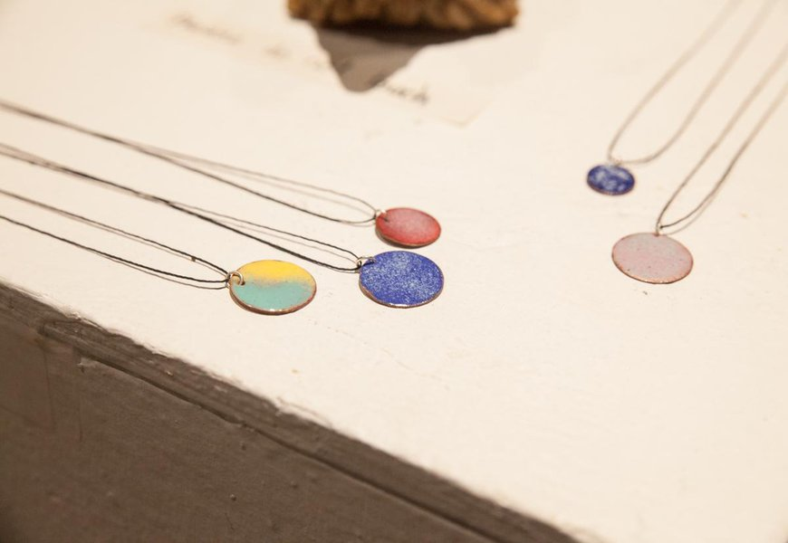 Enamel necklaces by CIT Dani R