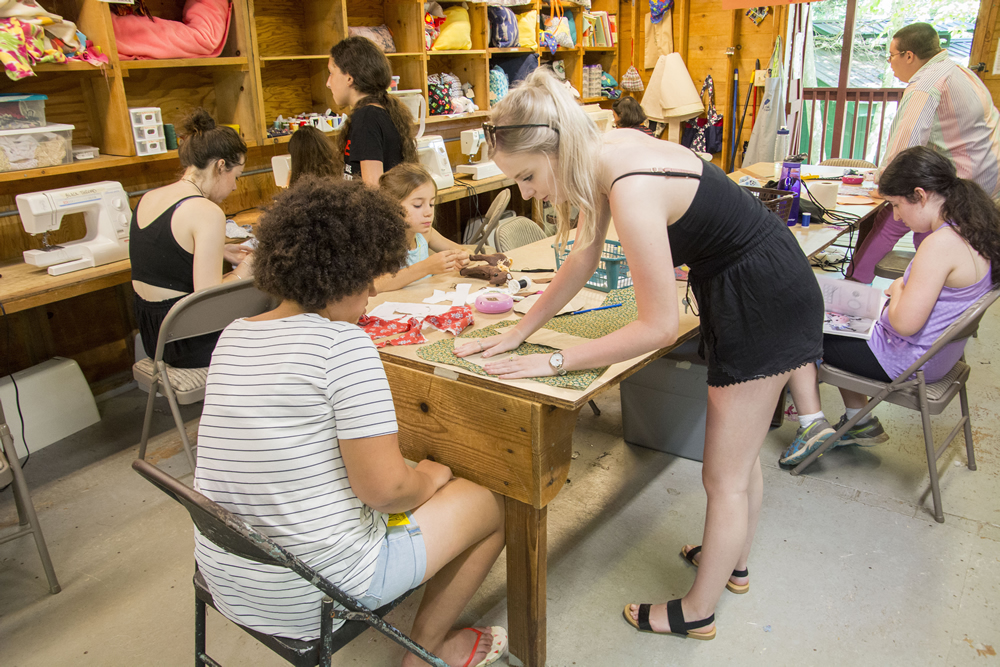Our skilled sewing staff teaches campers how to turn their ideas into reality.
