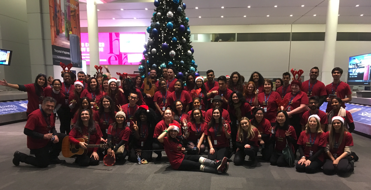 CHEERS TO THE HOLIDAYS - 8 days, 1,700 gifts wrapped, 100,000 candy canes and 70 Brand Ambassadors spreading the holiday spirit at the Toronto Pearson Airport