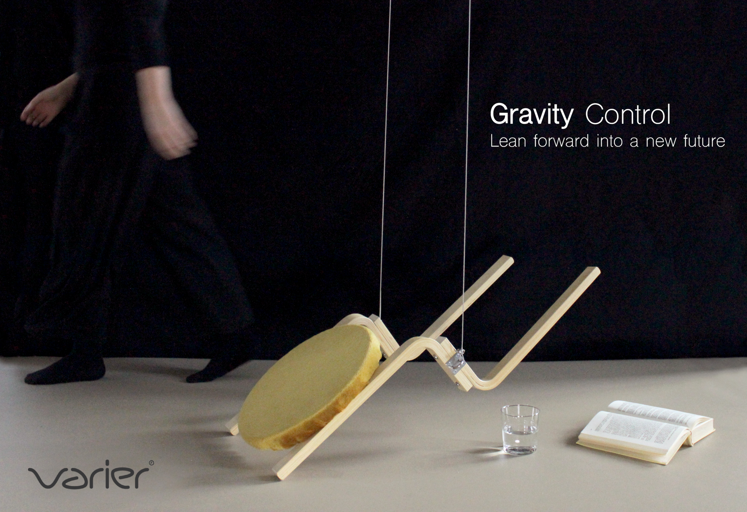 """""""Gravity Control"""": A chair for couples TTC. In a future, imagined scenario it could be produced by Varier."""