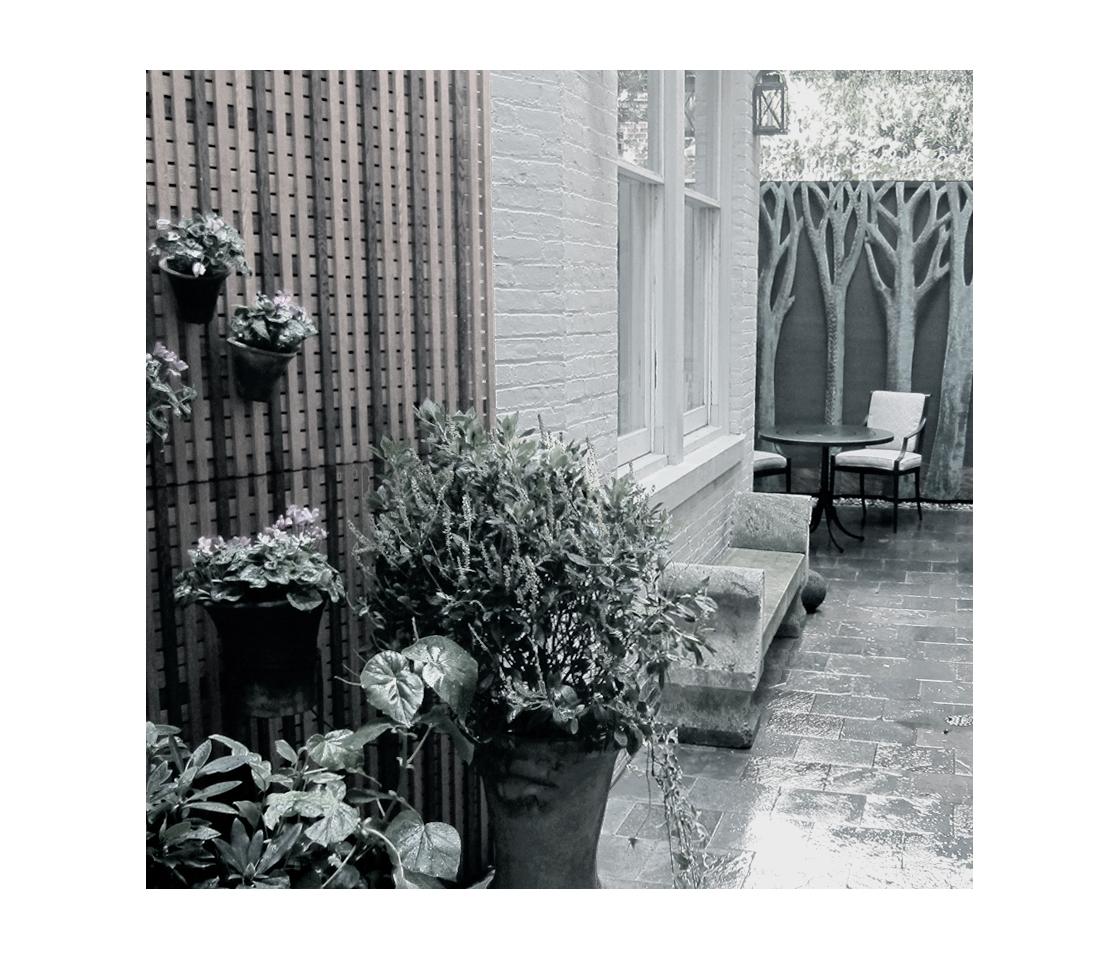 Saint-Amand Landscape Design-urban residential garden in BxW.jpg