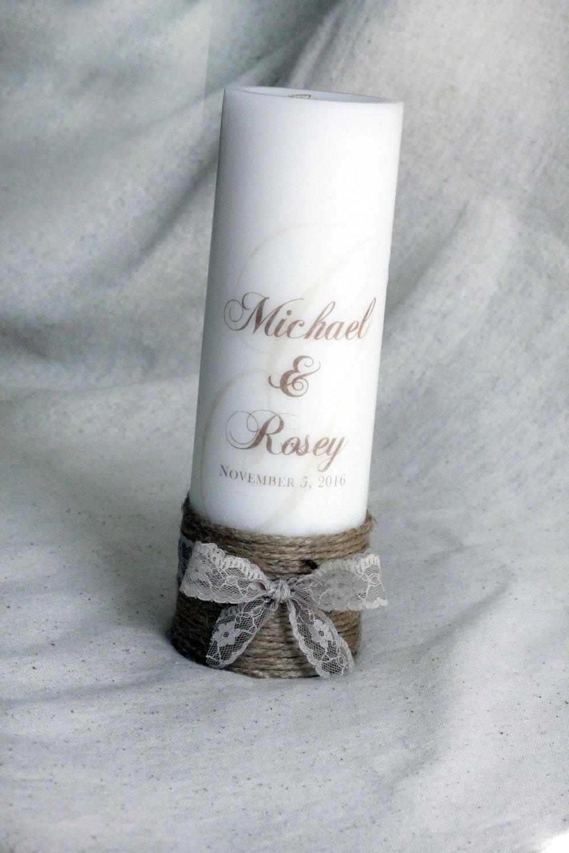 Perfect gift Wedding Candle Monogram candle Monogram Unity candle set Personalized