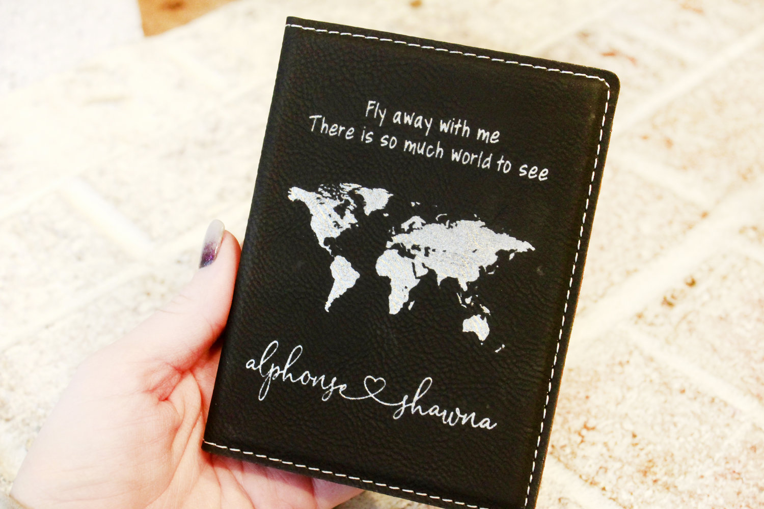 Fly Away With Me Newlywed Passport Cover Honeymoon Gift Ideas Passport Wallet Travel Gift Ideas Lovely Rustic Weddings