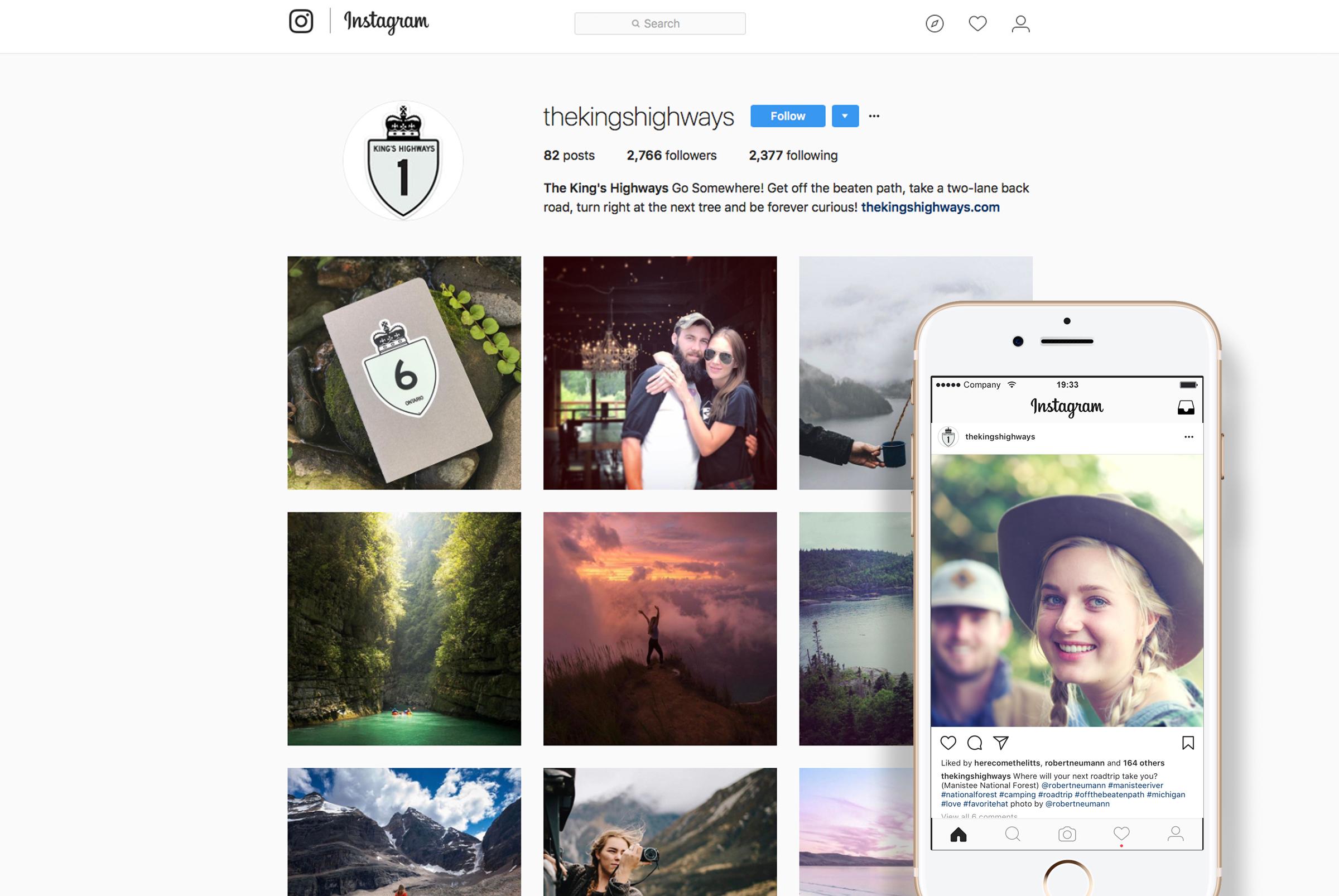 The King's Highways Instagram BrandIgnite