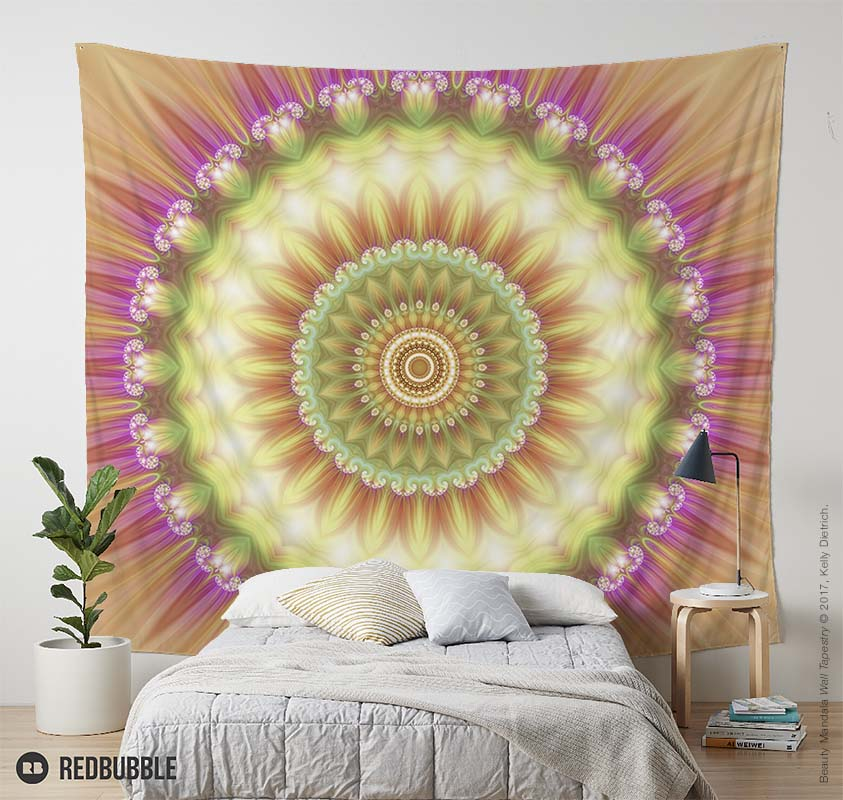 Beauty Mandala 01 Wall Tapestry - Available in  my RedBubble shop .