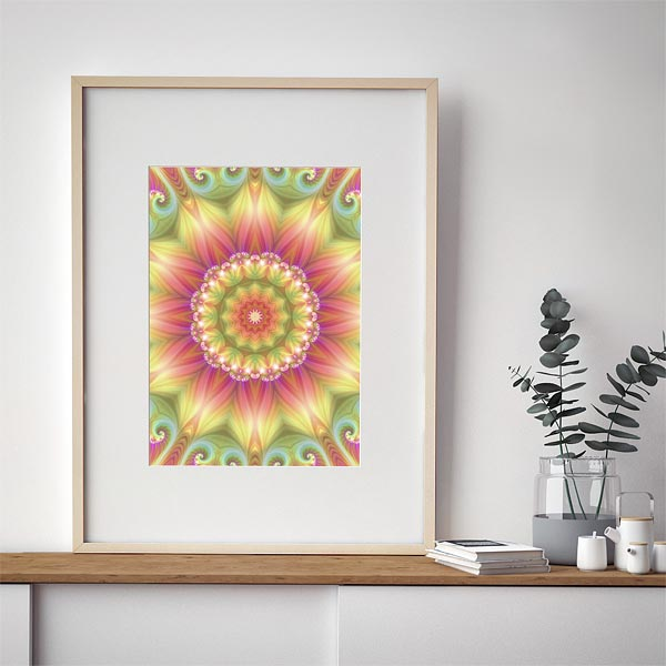 Beauty Mandala 03 Framed Art Print