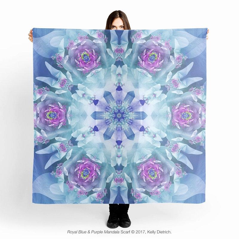 Royal Blue & Purple Mandala Scarf