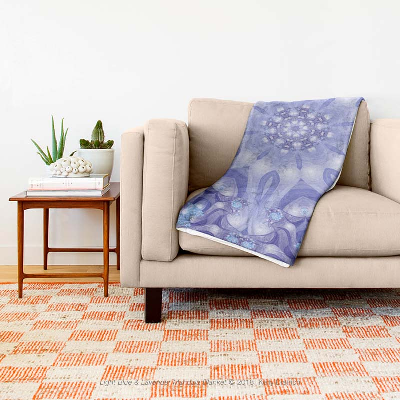 Light Blue & Lavender Mandala Throw Blanket, 30% off 2/27 with code: GETCOMFY