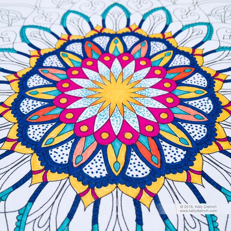Self Expression Mandala - A free, printable coloring page