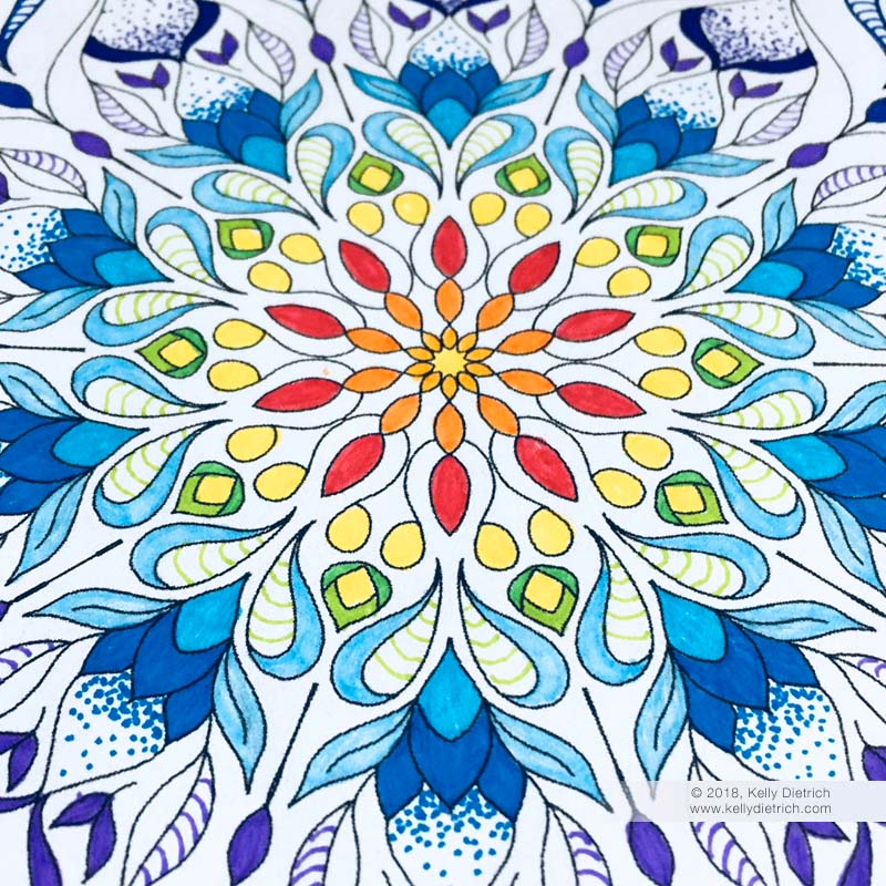 Growth Mandala Coloring Page - Free to Download and Color