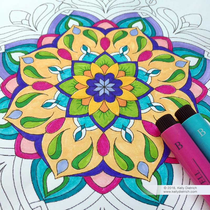 Sweet And Simple Mandala Free Coloring Page Kelly Dietrich Mandala Art