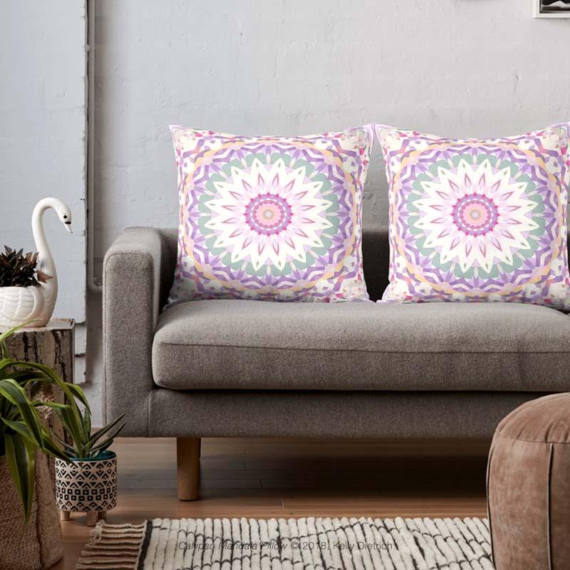 Calypso Mandala Throw Pillows