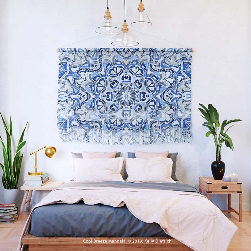 Cool Breeze Mandala Wall Hanging available at Society6