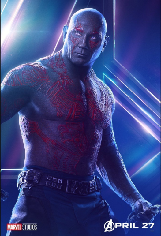 Drax the Destroyer - Voiced by Dave Bautista