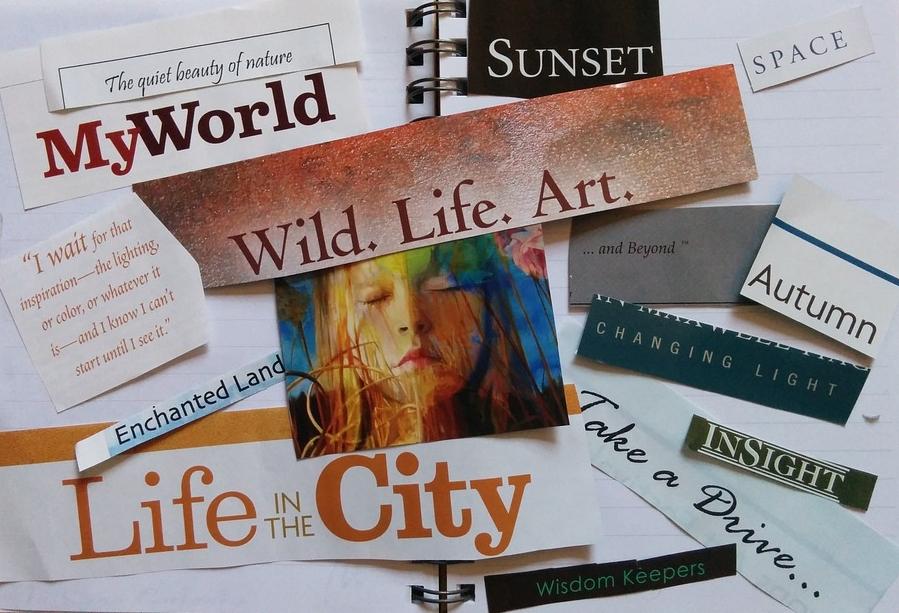 Vision boards & books -