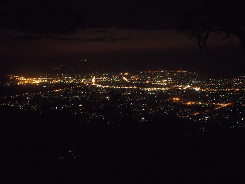 Rockhampton City at night, as viewed from Mount Archer by Kriscmay