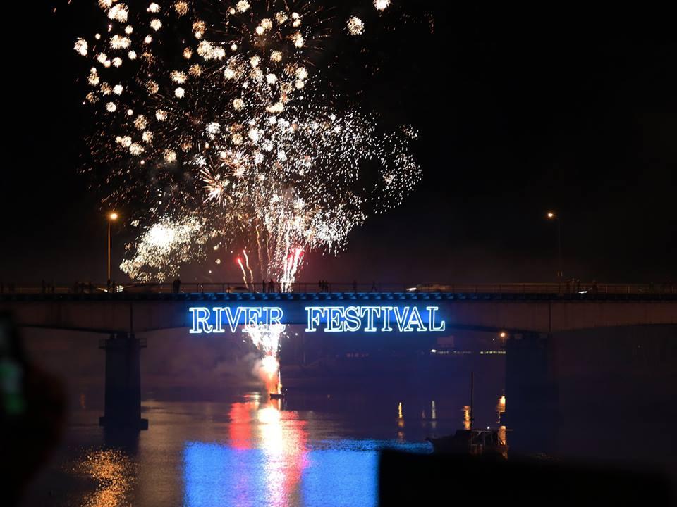 Rockhampton River Festival 2018 fireworks, courtesy Rockhampton Regional Council.