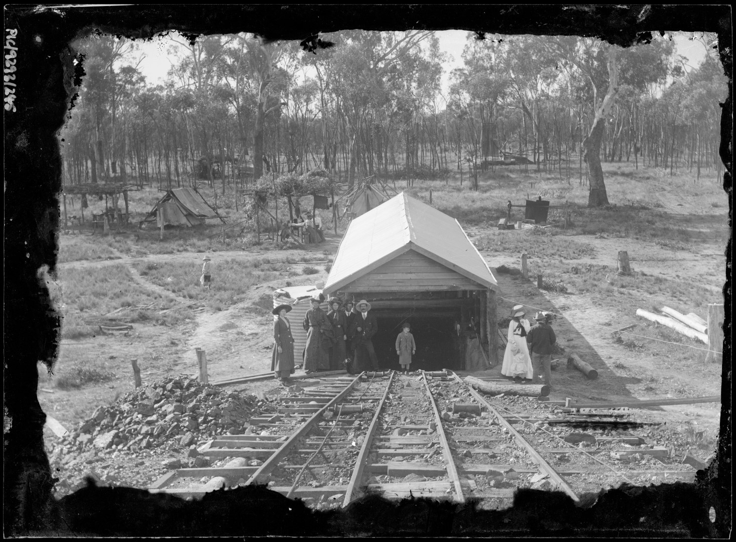 This image, captured by George Cumming Pullar of Blair Athol Coal and Timber No. 1 Mine in 1910, is one of the many images that will feature with stories at the Clermont Historical Centre's new exhibition Towns of Minerals and Metals.  Image courtesy Isaac Shire Council.