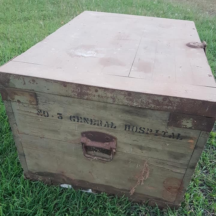Beryl Campbell's mysterious suitcase. Photo courtesy  Kilburnie Homestead on Facebook.